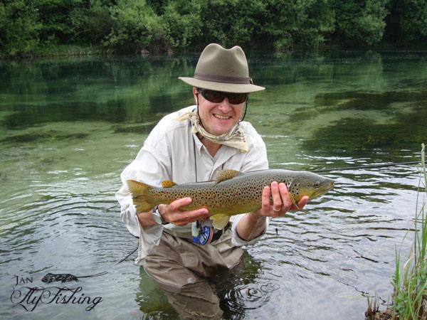 Jan flyfishing for Trout fishing season